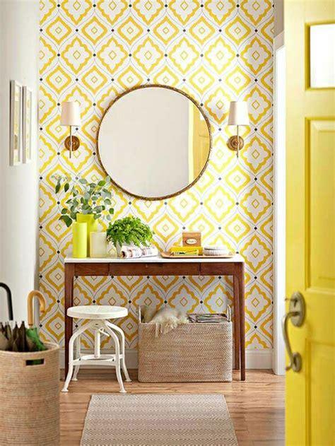 Flur Gestalten Gelb by Trendige Tapeten Ideen F 252 R Jeden Raum
