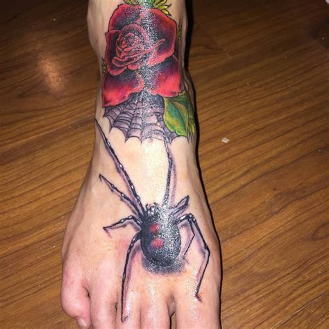spider web and rose tattoos 150 most popular foot tattoos ideas design meanings 2018