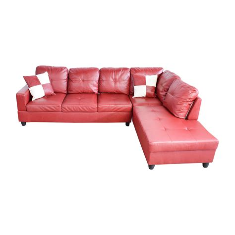 Red Faux Leather Sofa Elegant Faux Red Leather Sofa 75 For
