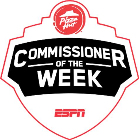 pizza hut commissioner of the week enter