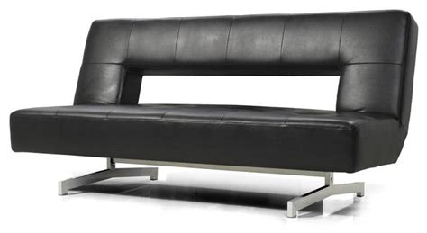 Modern Leather Futon by Black Eco Leather Sofa Bed Modern Futons By