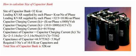 capacitor bank voltage rise capacitor bank rating calculation 28 images size of capacitor bank for power factor
