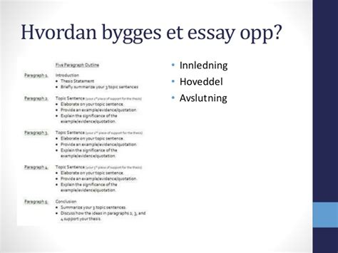 Hvordan Skrive Essay Oppskrift by Hvordan Skrive En Essay Mal Etdlibtutr X Fc2