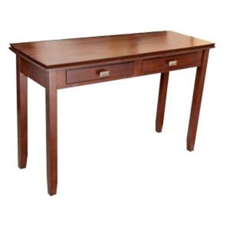 home depot sofa table simpli home artisan console table in medium brown wood