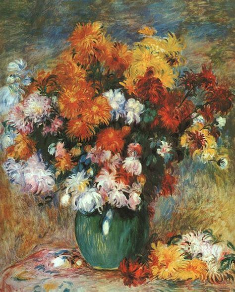 painting reproductions painting reproduction of renoir vase of chrysanthemums