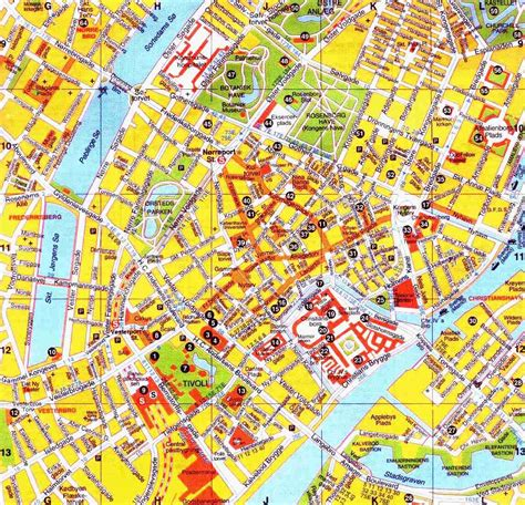 copenhagen map map of copenhagen city