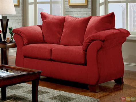 red couch and loveseat modern red sofa loveseat living room furniture set