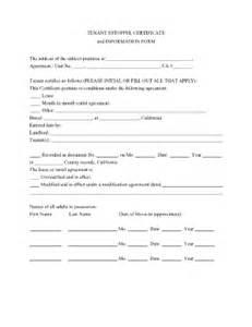 estoppel certificate template estoppel certificate fill printable fillable