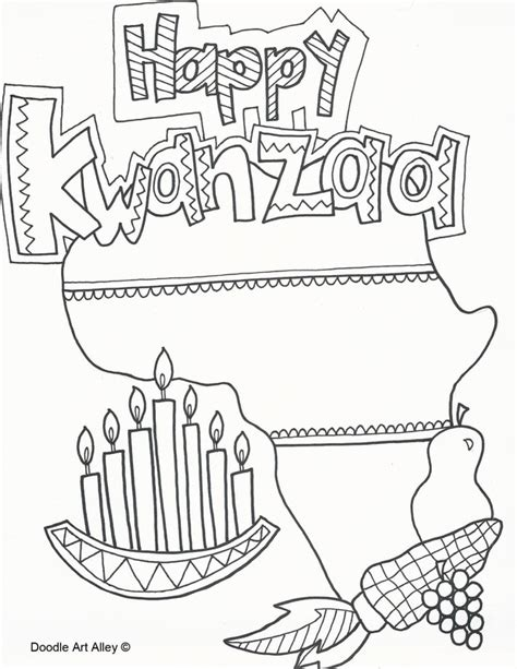 kwanzaa coloring page printable kwanzaa coloring pages doodle art alley