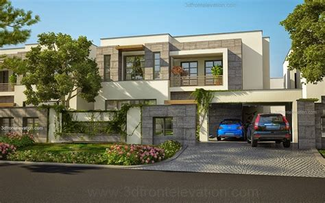 front elevation beautiful modern style house design home 3d front elevation com modern house plans house designs
