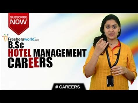 Mba It Management Careers by Careers In B Sc Hotel Management Mba Business