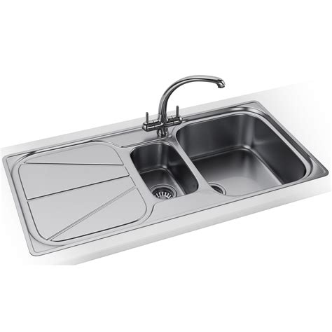 kitchen sink and tap franke simplon propack spx 651 stainless steel sink and