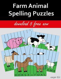 Spellings Baby Farm by Free Primary Animal Worksheets Worksheet Baby Animals