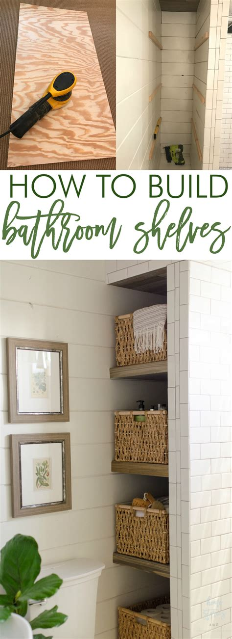 shelves in bathroom ideas how to build bathroom shelves to shower