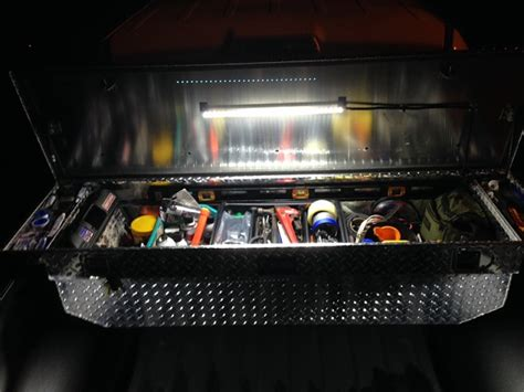 truck tool box lights led tool box light and hood light ford f150 forum