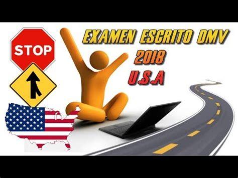 preguntas de examen de manejo del dmv examen de manejo escrito en espa 209 ol 2018 dmv preguntas