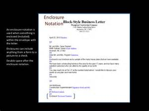 Business Letter Notations enclosures notation letters enclosure notation isused
