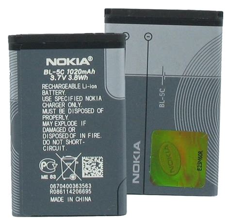 Baterai Battery Batere Nokia Bl 5cb Zgreen nokia bateria nokia bl 5c para nokia c2 05