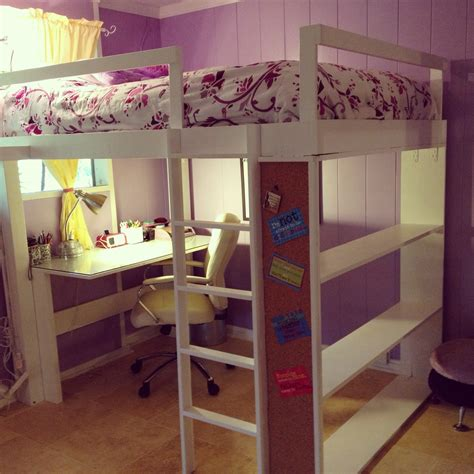 loft bed ideas white loft bed diy projects