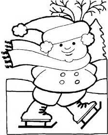 Coloring pages print winter scene in addition english worksheet for