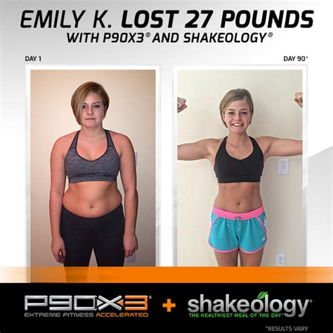 How Many Pounds Can I Lose With 3 Day Detox by Emily Lost 27 Pounds With Shakeology And P90x3 How Much