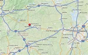 lake lure carolina map rutherford county nc maps