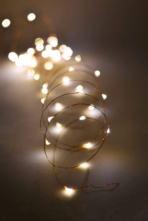 Outdoor Fairy Lights 20 Ft Battery Op 60 Warm White Led Lights White