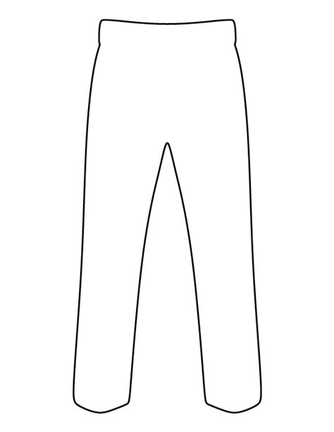printable pants template pants pattern use the printable outline for crafts