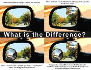 blind spot side view mirrors automobile safety foundation mirrors