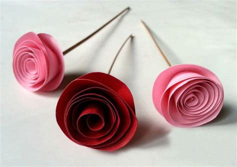 Paper Craft Roses - rolled paper 183 how to make a flowers rosettes