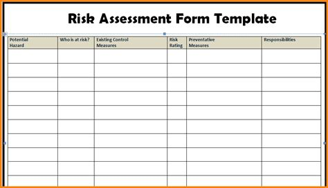 physical security risk assessment template templatesz234