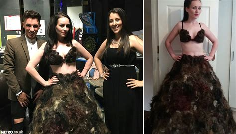 pubic hair that is dredded sarah louise bryan makes dress out of other people s pubic