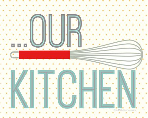 Free Printables Kitchen Set The 36th Avenue Free Printable For