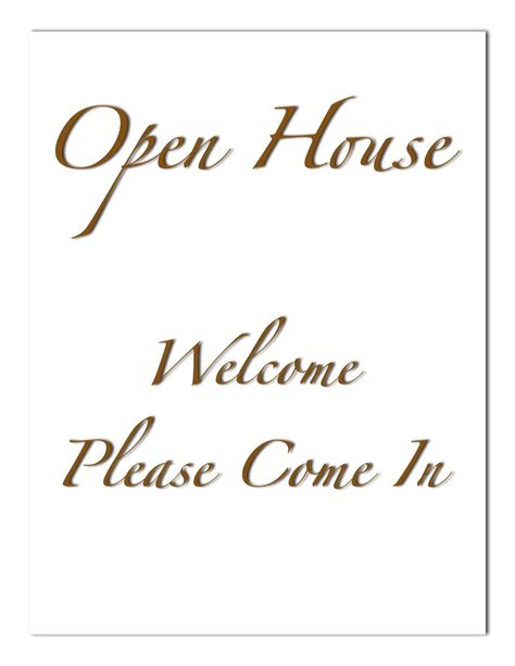 welcome sign template open house welcome sign