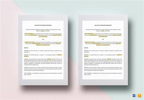real estate templates for apple pages independent contractor agreement 15 free sle