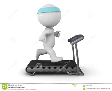 how to a to run on a treadmill 3d character running on treadmill stock illustration image 63075243