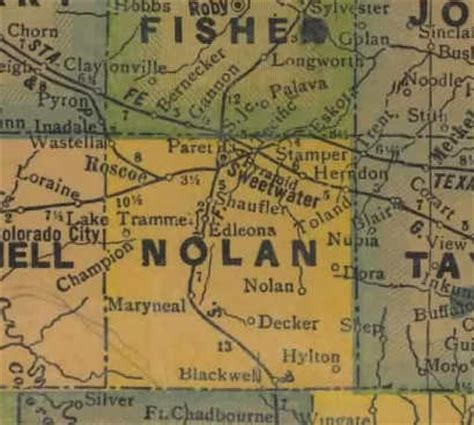 nolan county texas map wastella texas
