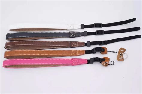 Wrist Pu Leather Lanyard For Dslr wholesale wrist pu leather lanyard for canon nikon sony fuji fujifilm