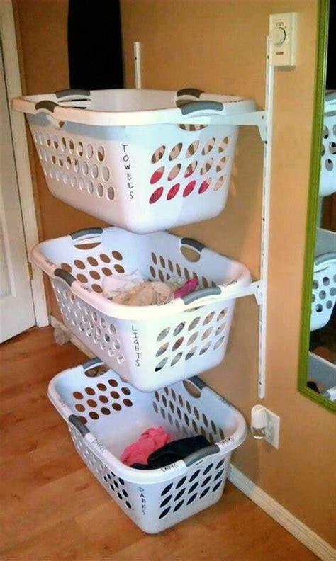 user shelf brackets laundry baskets diy