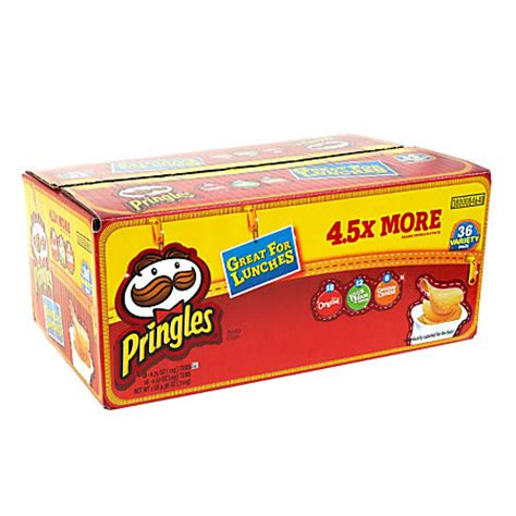 pringles variety pack box of 36 by office depot officemax