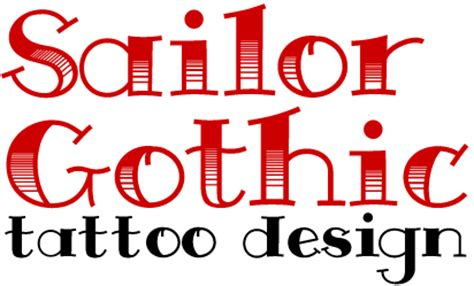 tattoo fonts exles sailor font