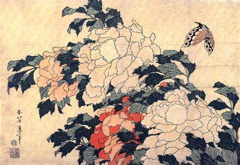 biography of hokusai japanese artist ponies with butterfly by hokusai