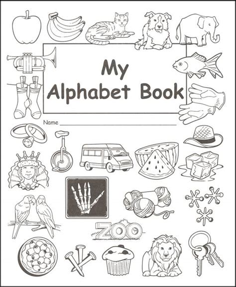 my alphabet book learning abc s alphabet a to z picture basic words book ages 2 7 for toddlers preschool kindergarten fundamentals series books my alphabet book 044134 details rainbow resource
