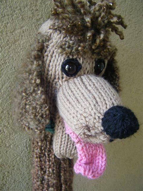 knitting pattern golf club covers hand knit poodle head cover