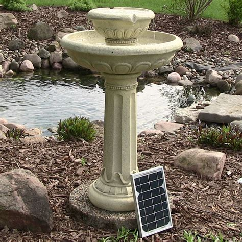 water fountain backyard solar water fountain birdbath 2 tier chelsea design for