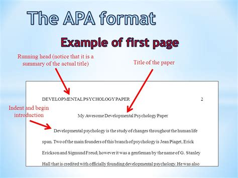 apa format introduction page the apa format title page ppt video online download