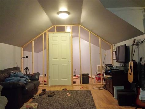 diy how to frame an interior wall with door and sheetrock