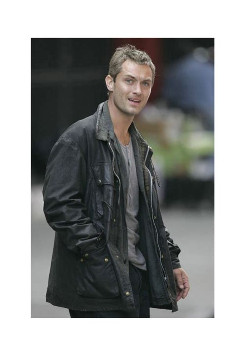 Jude Laws Ex Burgled On Of Breaking And Entering Premiere by Jude Jacket As Will Breaking And Entering Leather Jacket