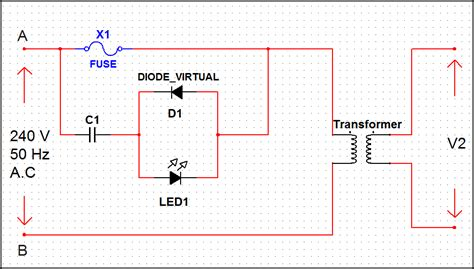 high voltage led indicator circuit simple and useful led circuits
