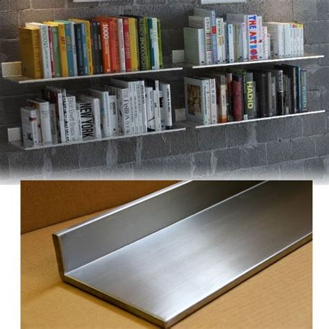 stainless steel floating wall shelf bookshelf with